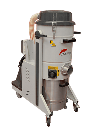 Atex certified industrial vacuum cleaner on wheels with extremely high filtration 3533 ATEX