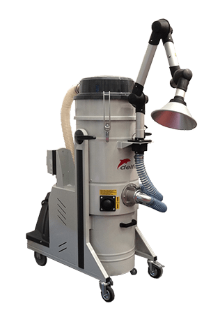 Compact high performance industrial vacuum cleaner 3533 for local extraction