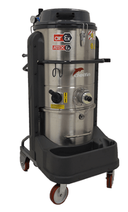 ATEX CERTIFIED COMPRESSED AIR INDUSTRIAL VACUUM CLEANER FOR ZONES 1, 2, 21, 22 DM3 AIREX