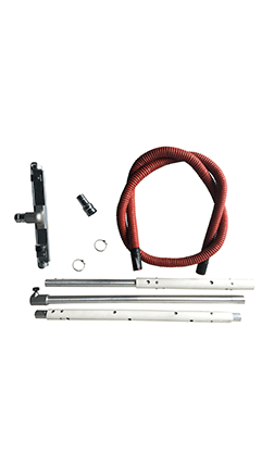 Accessories kits for suctioning high incendescent materials