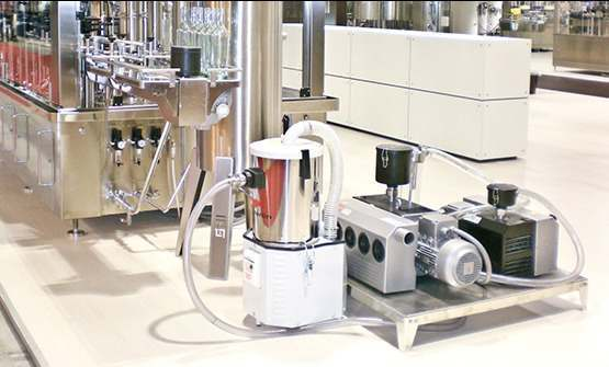 Vacuum cleaners for fixed extraction on machines (OEM)