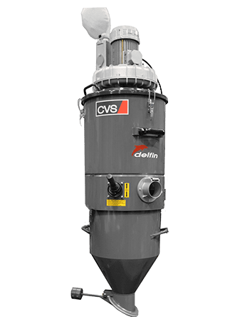 Industrial vacuum cleaner for localised suction and discharge AS FIXE